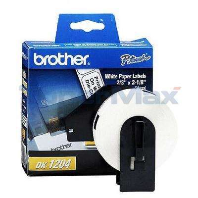 BROTHER P-TOUCH PAPER DIE CUT LABELS 2/3IN